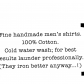 Care Instructions for Your Shirt